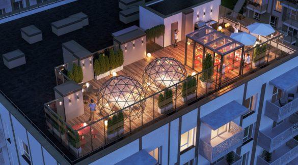 Namų pynės stogo terasa